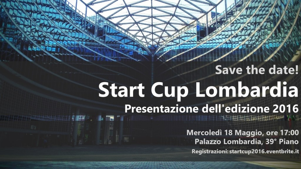 Locandina Start Cup Lombardia